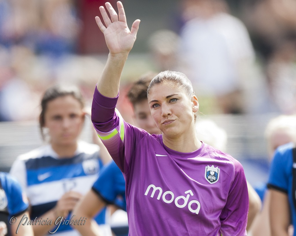 Hope Solo following Seattle's NWSL Championship loss. (Photo Copyright Patricia Giobetti for The Equalizer)