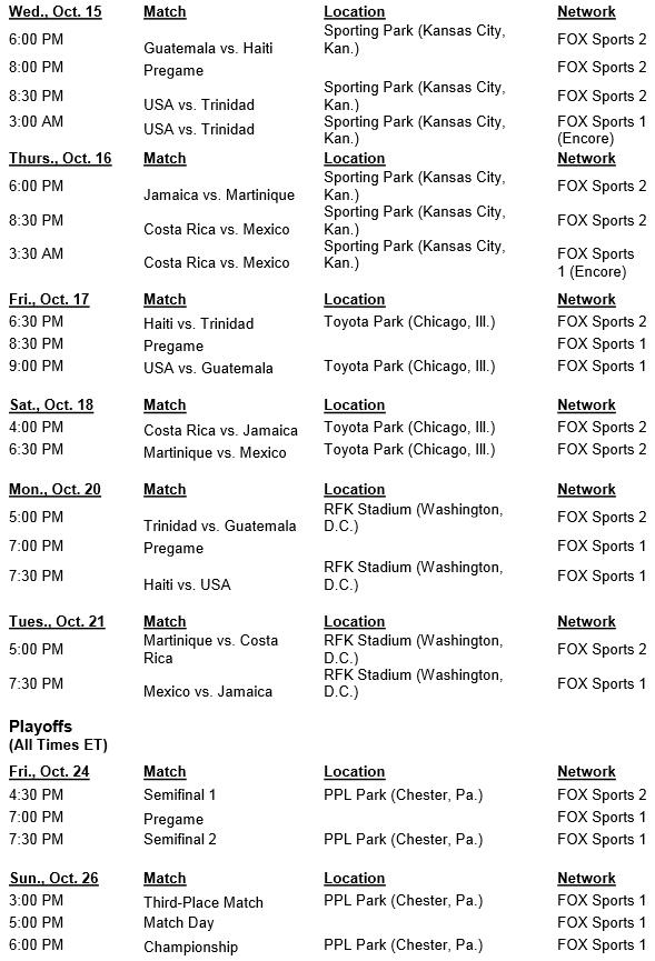 141007_Fox WWCQ schedule