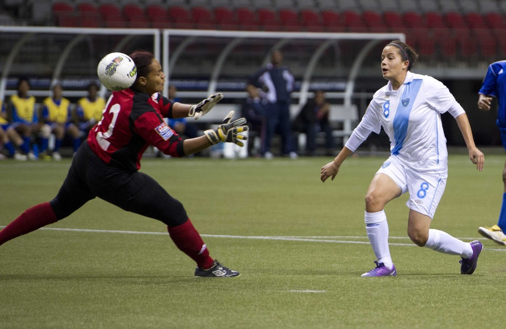 Maria Monterroso in action for Guatemala during 2012 Olympic qualifying. (Getty Images)