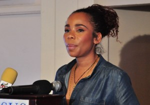 Cedella Marley, daughter of famous musician Bob Marley, is the ambassador for Jamaica's women's national team. (AP Photo)