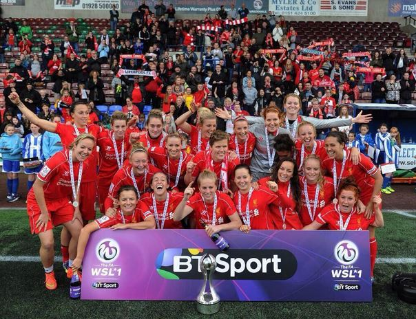 Liverpool won a second straight FAWSL title in 2014 in dramatic fashion. (Photo: Liverpool LFC)