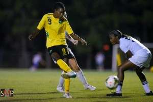 Shakira Duncan is Jamaica's leading goal scorer this year. (©2014 Scott A. Miller/Reggae Girlz Facebook)