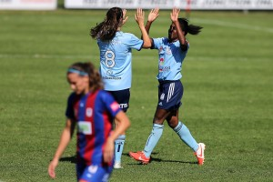American Jasmyne Spencer scored her fifth goal of the W-League season. (Getty Images)
