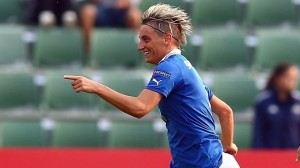 Melania Gabbiadini scored important goals in both legs to keep Italy's World Cup hopes alive. (Getty Images)