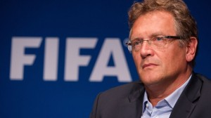 Jerome Valcke will meet with players and coaches on Saturday at the World Cup draw. (Photo: FIFA.com/AFP)