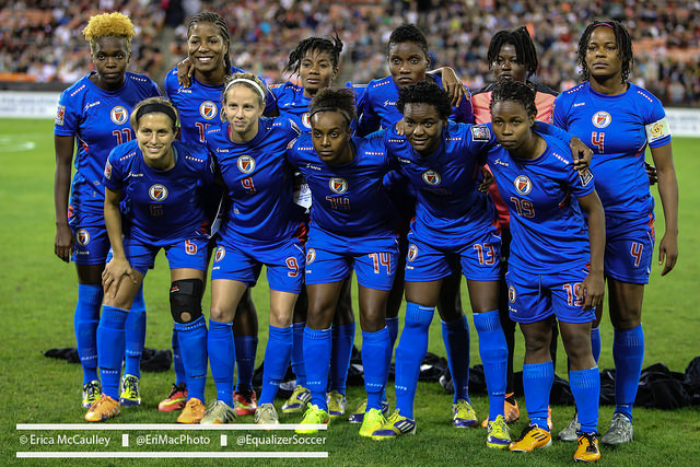 Haiti didn't advance to the semifinals of the CONCACAF Women's Championship, but the team's win over Guatemala was a proud moment for the country. (Photo Copyright Erica McCaulley for The Equalizer)