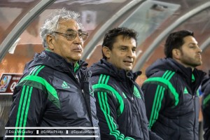 Mexico coach Leo Cuellar (left) hopes the players he rested on Friday will help get his team to the World Cup on Sunday (Photo Copyright Erica McCaulley for The Equalizer)