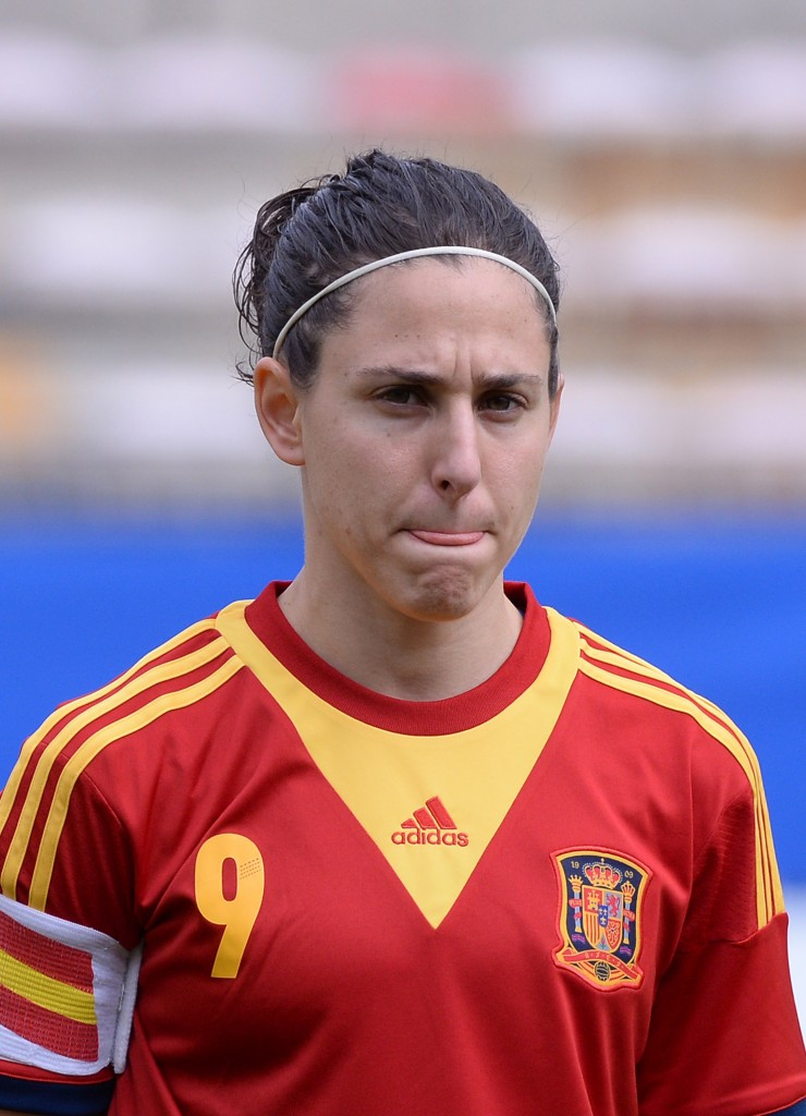 Spain captain Vero Boquete is among the group of players opposing artificial turf at the 2015 Women's World Cup. (Getty Images)
