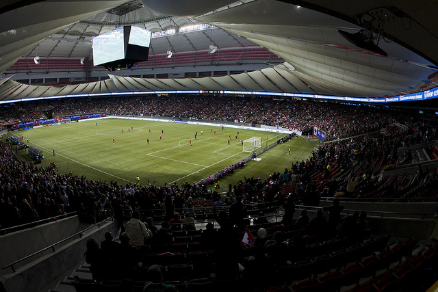 BC Place, where the 2015 Women's World Cup final will be played, has an artificial turf surface. All six Canadian venues are scheduled to use artificial turf. (Photo: Canada Soccer)