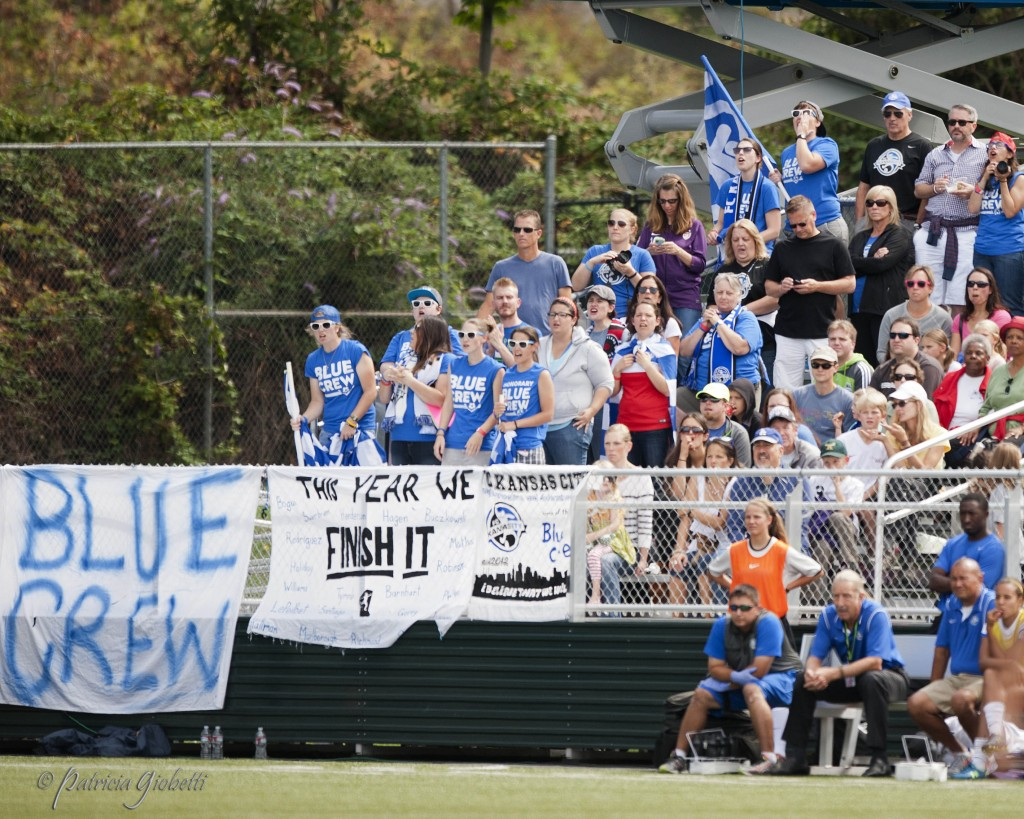 "FC Kansas City's ""Blue Crew,"" seen here in Seattle during the 2014 NWSL championship, will have a new home venue in 2015. (Photo Copyright Patricia Giobetti for The Equalizer)"
