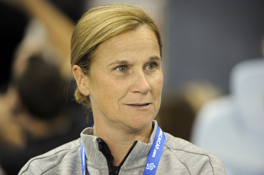 U.S. women's national team coach Jill Ellis has her team one win from clinching a World Cup berth. (USA Today Images)