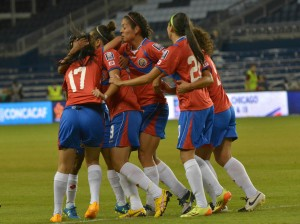Costa Rica advanced to the CONCACAF Women's Championship semifinals with a 2-1 win over Jamaica on Saturday. (USA Today Images)