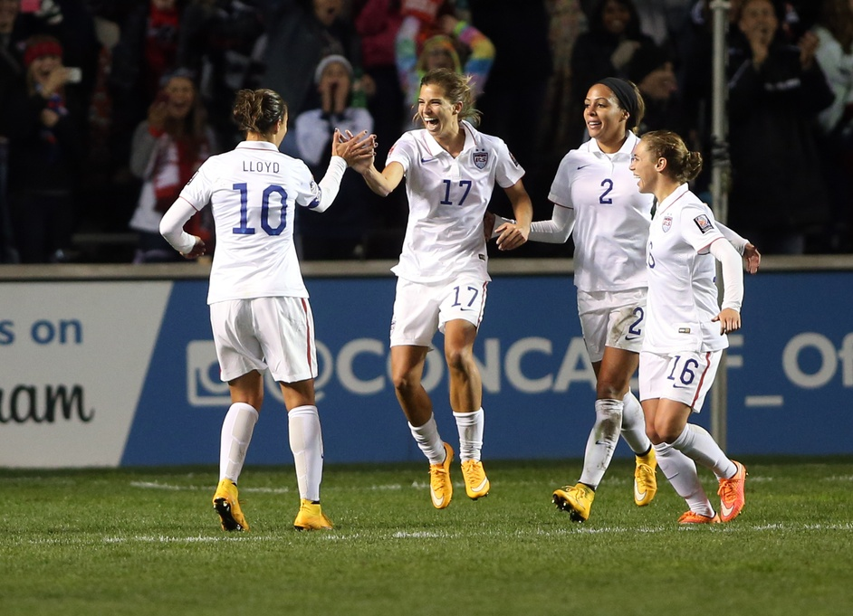 Tobin Heath (17) scored twice for the U.S. on Friday in a 5-0 win over Guatemala. (USA Today Images)