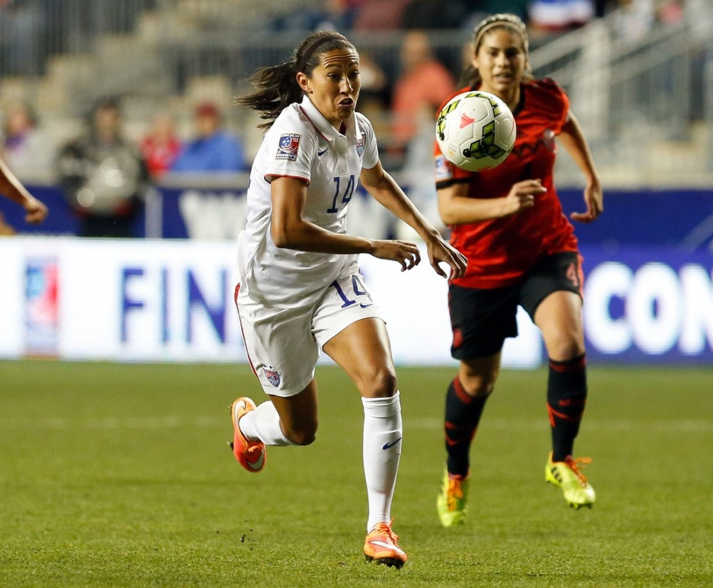Christen Press has been a big part of the United States' progression of play out wide. (USA Today Images)