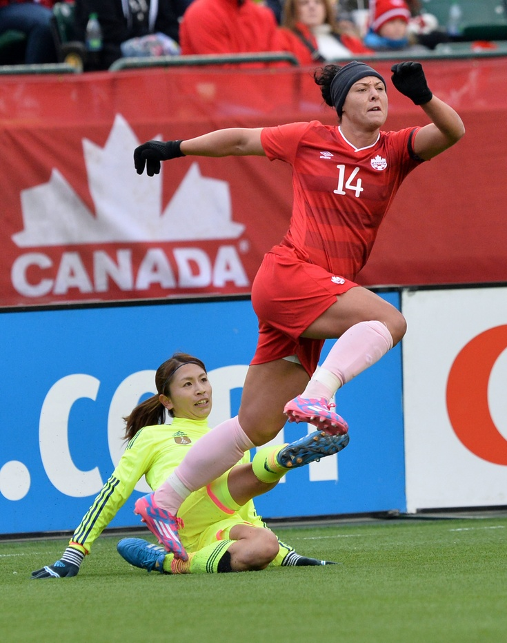 Melissa Tancredi and Canada couldn't find a goal against Japan on Saturday. (USA Today Images)