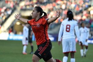 Charlyn Corral was Mexico's star at World Cup qualifying, scoring twice in the third-place match to clinch a berth to Canada 2015. (USA Today Images)