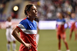 Abby Wambach presented FIFA a proposal for some grass at the 2015 Women's World Cup. (USA Today Images)