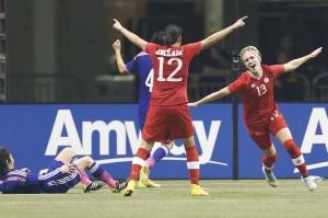 Sophie Schmidt scored twice for Canada on Tuesday. (Joe Nicholson-USA TODAY Sports)