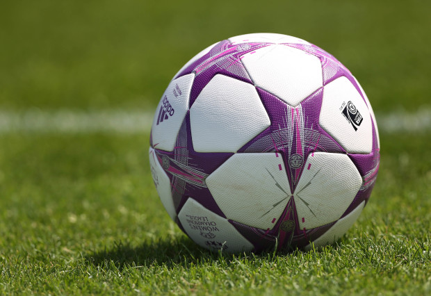 The game ball from the  2014 UWCL final between Frankfurt and Wolfsburg.  This year they meet at the semifinal state.  (Getty Images)