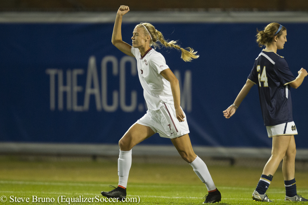 Dagny Brynjarsdottir scored the lone goal to lift FSU into the ACC final. (Photo Copyright Steve Bruno for The Equalizer)