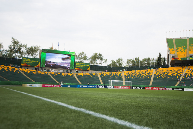 Players still hold out hope they can get grass laid down for the 2015 Women's World Cup. (Photo: Canada Soccer)
