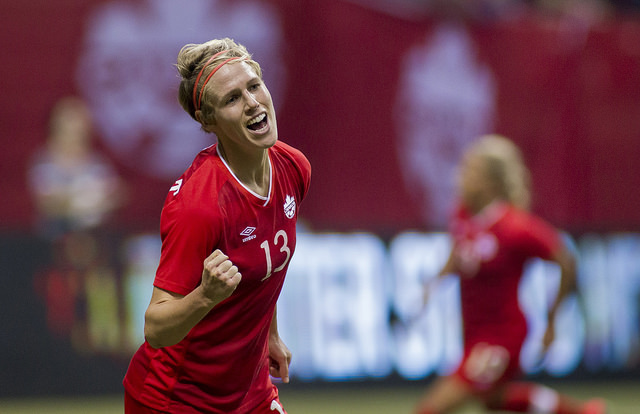 Sophie Schmidt and Canada are confident that they can make a run on home soil next year, but there's a long way to go. (Photo: Canada Soccer)