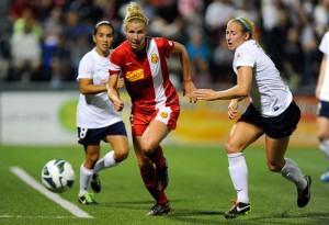 Amy Barczuk is now a member of the Boston Breakers. (USA Today Images)
