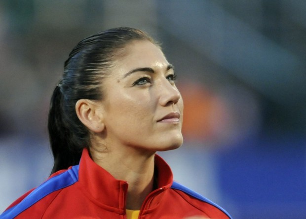 Hope Solo said there were no awkward moments this week despite pending litigation between players and US Soccer officials. (USA Today Images)