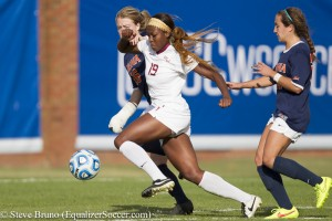 Cheyna Williams and Emily Sonnett will do battle again on Sunday. (Photo Copyright Steve Bruno for The Equalizer)