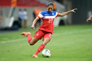 Christen Press scored four goals in the USWNT's 7-0 win over Argentina. The U.S. faces Brazil in Sunday's final. (Getty Images)