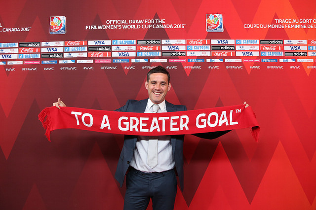 Canada coach John Herdman will face his old team, New Zealand, in the group stage. (Photo: Canada Soccer)