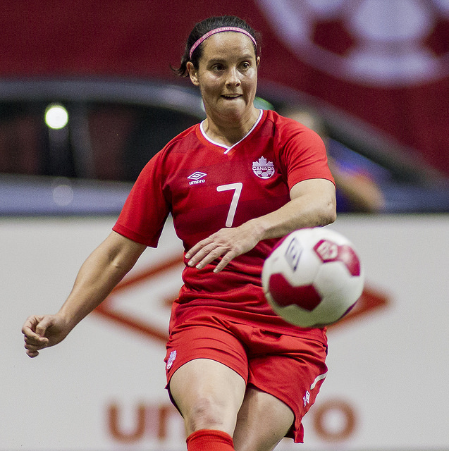 Rhian Wilkinson is hoping to be fit for the World Cup opener after battling a hamstring injury. (Photo: Canada Soccer)