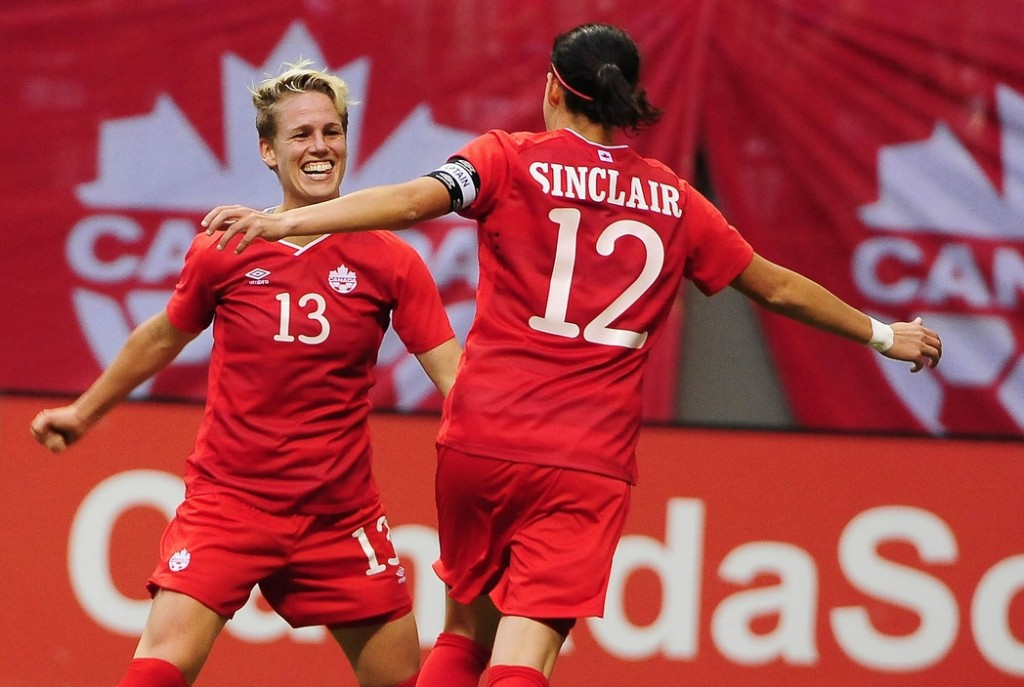 Sophie Schmidt and Christine Sinclair hope to lead Canada to a title on home soil, but it's a longshot. (USA Today Images)