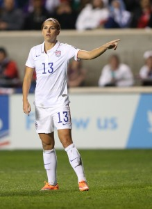 Alex Morgan is back with the USWNT after spraining her ankle in October. (USA Today Images)