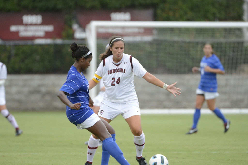 Taylor Leach hopes to hear her name called during Friday's NWSL Draft. (Photo: South Carolina Athletics)