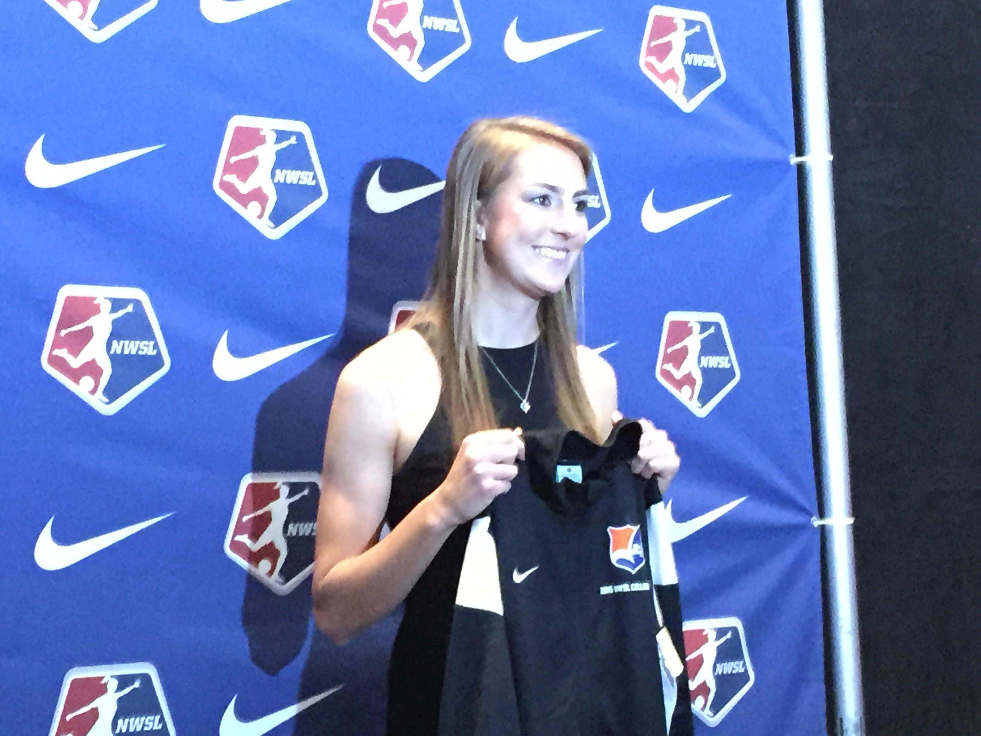 Sky Blue FC drafted Sarah Killion No. 2 overall in the 2015 NWSL Draft. (Photo Copyright Jeff Kassouf for The Equalizer)