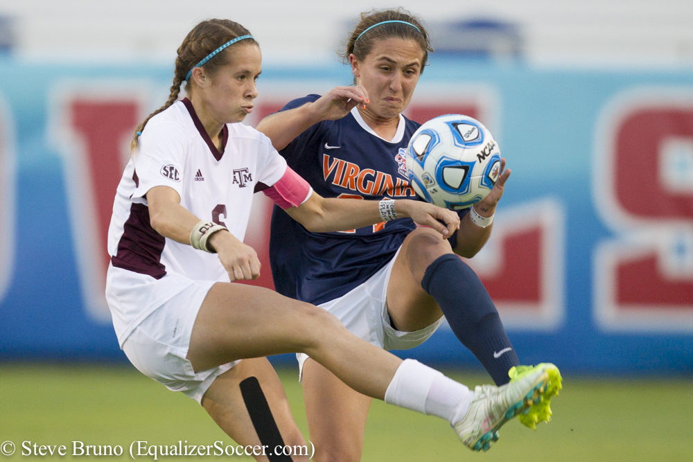 Shea Groom (left) is one of six Texas A&M players in the 2015 NWSL Draft. (Photo Copyright Steve Bruno for The Equalizer)