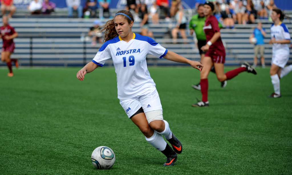 Former Hofstra forward Sam Scolarici could be a valuable late-round steal in Friday's NWSL Draft. (Photo: CAA)