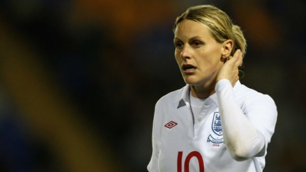 Kelly Smith won't play in her own farewell match--because she is pregnant. (Photo: Arsenal)