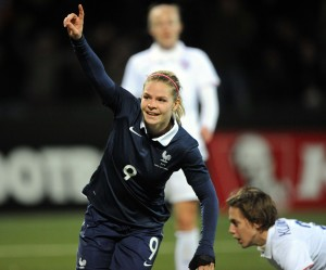 Eugenie Le Sommer scored her 40th goal for France. (Getty Images)