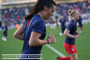 Ali Krieger with the U.S. women's national team. (Photo Copyright Erica McCaulley for The Equalizer)