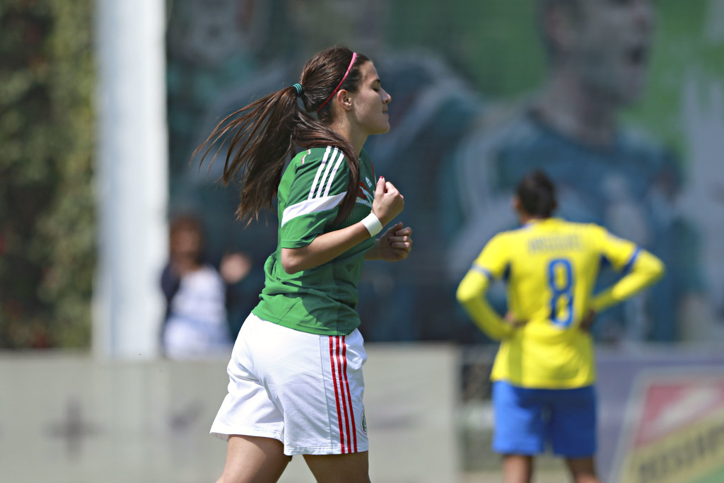 Nayeli Rangel scored against Ecuador on Thursday to lift Mexico to a 1-0 win. (Photo Courtesy FMF)