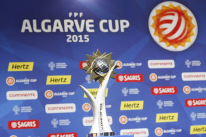 The 2015 Algarve Cup trophy. (Photo Courtesy FPF)