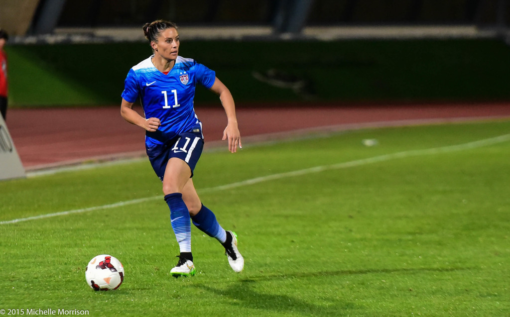 The same group that went to the Algarve Cup will fight for the 23 World Cup roster spots. (Photo Copyright Michelle Morrison)