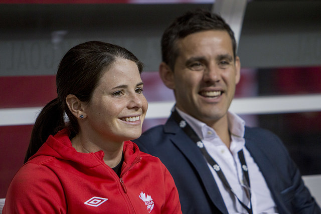 Diana Matheson is ahead of schedule in her recovery from a torn left ACL, according to Canada coach John Herdman. (Photo Courtesy Canada Soccer)