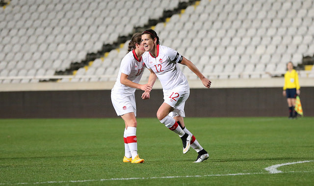 Christine Sinclair is regaining her goal-scoring form just in time for the World Cup. (Photo Courtesy Canada Soccer)