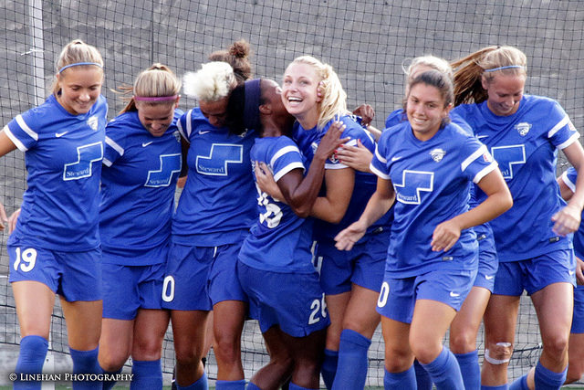 The Boston Breakers won their first match of the 2016 season. (Photo Copyright Clark Linehan for The Equalizer)