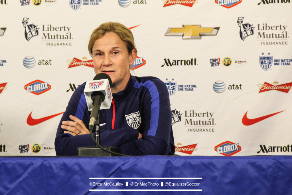 Jill Ellis says all the pieces are finally coming together for the U.S. women ahead of the World Cup. (Photo Copyright Erica McCaulley for The Equalizer)