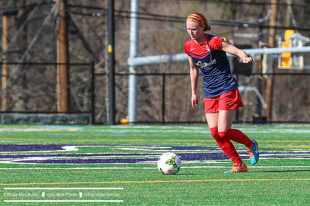 Tori Huster's leadership and play in the middle of the field could define the Washington Spirit's season. (Photo Copyright Erica McCaulley for The Equalizer)