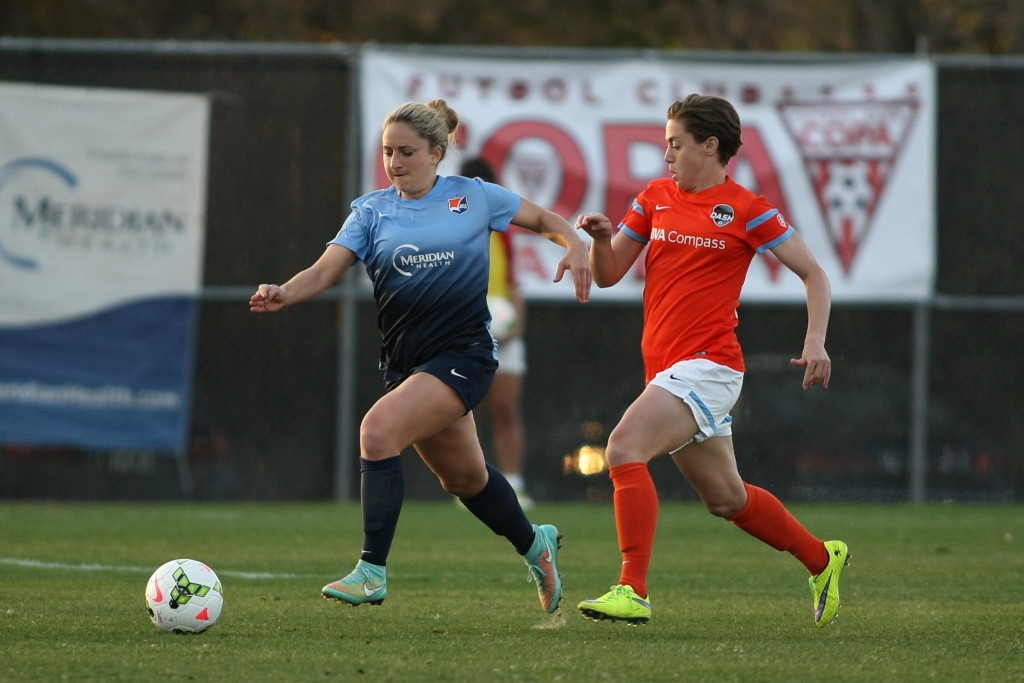 Expectations in Houston have risen to the point that they were disappointed not to take three points home from New Jersey. (Photo by Robyn McNeil, Courtesy of Sky Blue FC)